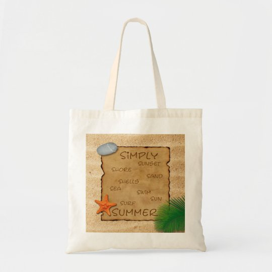 Parchment on Sand Background - Budget Tote