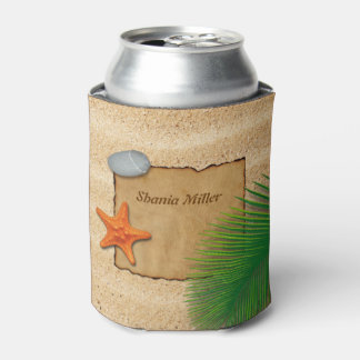 Parchment on Sand Background - Can Cooler