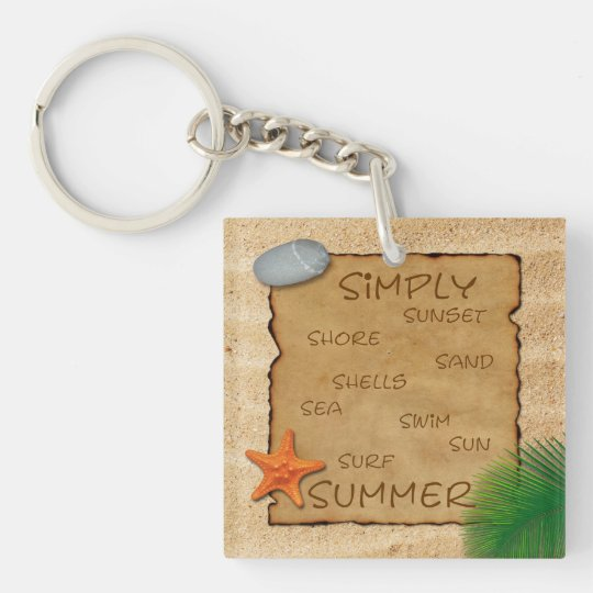 Parchment on Sand Background - Keychain