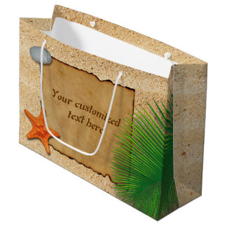 Parchment on Sand Background - Large Gift Bag