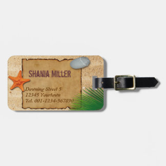 Parchment on Sand Background - Luggage Tag