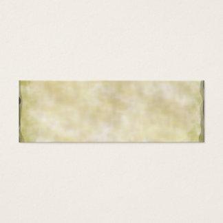 Parchment Paper Aged Mini Business Card