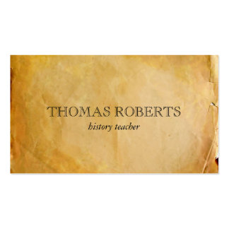 Parchment Paper Pack Of Standard Business Cards