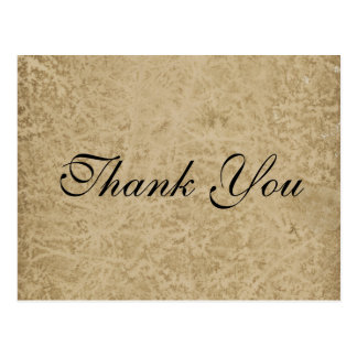 Parchment Paper Thank you Postcard