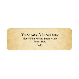 Parchment Pattern Design Wedding Return Address Label
