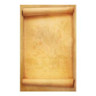 Parchment Scroll Look Stationery