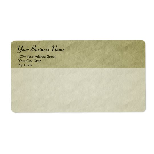 Parchment Style Business Shipping Label