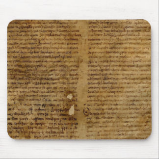 Parchment text with antique writing, old paper mouse pad