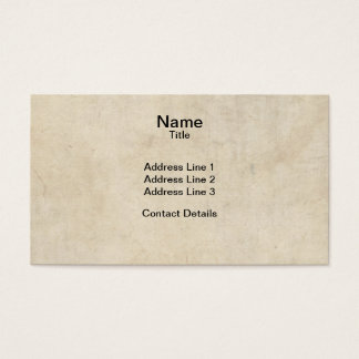 Parchment Texture Business Card