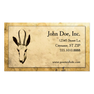 Parchment texture w/deer silhouette business cards business card template