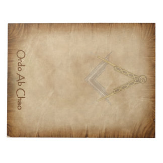 Parchment with Square and Compass Notepad