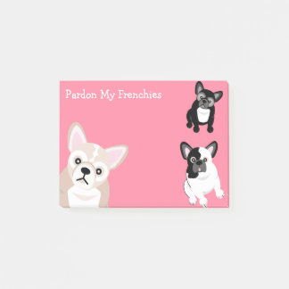 Pardon My Frenchies Post-it Notes