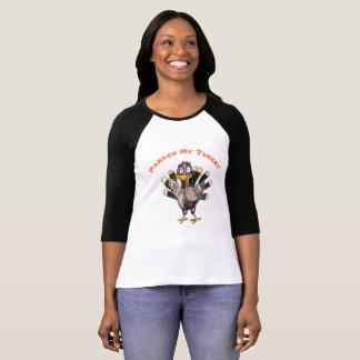 Pardon My Turkey Women's 3/4 Sleeve T-Shirt