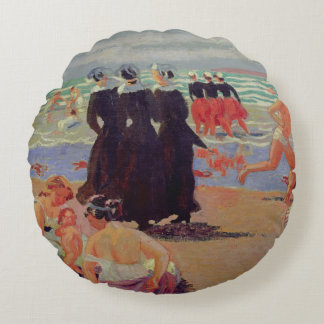 Pardon of Sainte-Anne-la-Palud Round Cushion