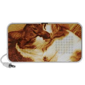 Parent and child cat travelling speaker
