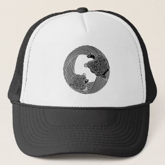 Parent and child turtle trucker hat