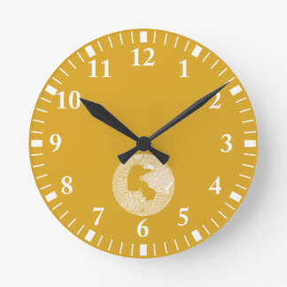 Parent and child turtle wall clock