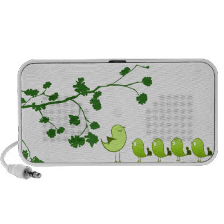 Parent and young ones under tree notebook speakers