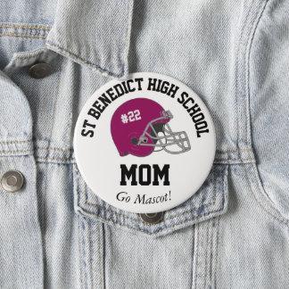 Parent Pride Senior Night Football Maroon Helmet 10 Cm Round Badge
