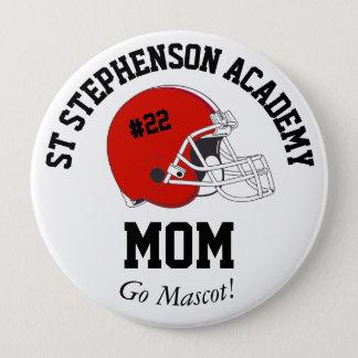 Parent Pride Senior Night Football Red Helmet 10 Cm Round Badge