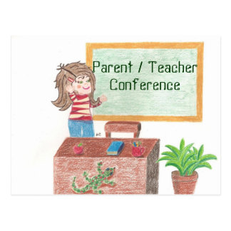 Parent/teacher conference reminder postcard