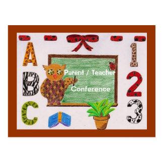 Parent/teacher conference reminder postcard 3