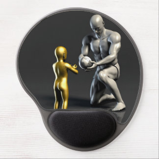 Parent Teaching Child as a Concept in 3D Gel Mouse Pad