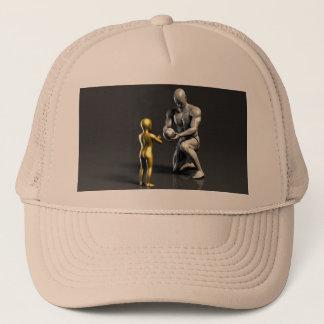 Parent Teaching Child as a Concept in 3D Trucker Hat
