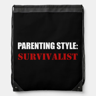Parenting Style Survivalist Drawstring Bag