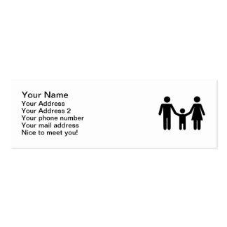 Parents child son business card