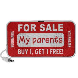 PARENTS FOR SALE custom Doodle speaker Portable Speaker