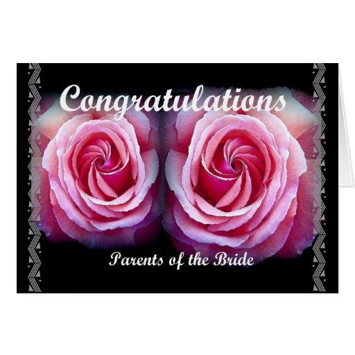 PARENTS of the BRIDE - Wedding Congratulations Card