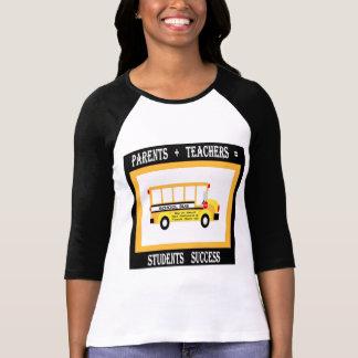 Parents + Teachers = Student Success (Black) T-Shirt