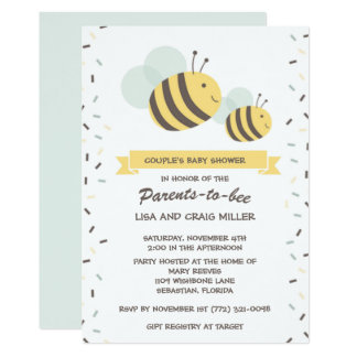 Parents to Bee Bumblebee Couple's Baby Shower Card