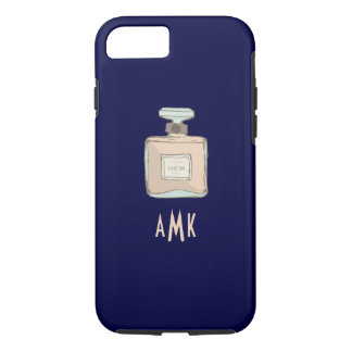 Parfum Bottle Illustration With Monogram Initials iPhone 7 Case
