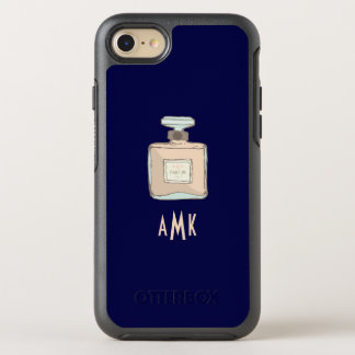 Parfum Bottle Illustration With Monogram Initials OtterBox Symmetry iPhone 8/7 Case
