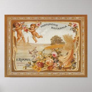 Parfumerie Britannia Vintage Ad - Print