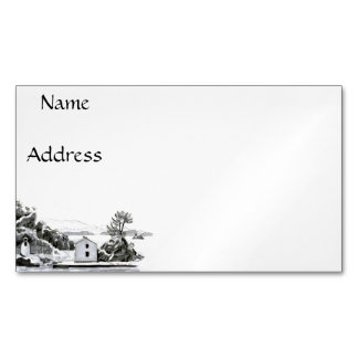 Parga Island Magnetic Business Cards