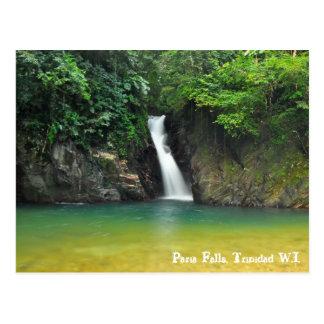 Paria Falls, Trinidad W.I. Postcard