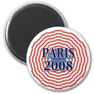 Paris 2008 6 cm round magnet