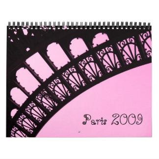 Paris 2009 calendars