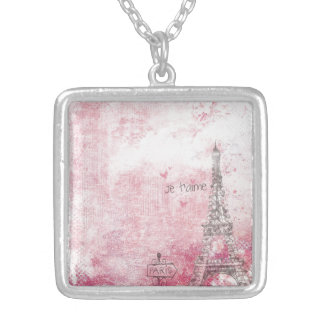 paris-2869657_1920 silver plated necklace