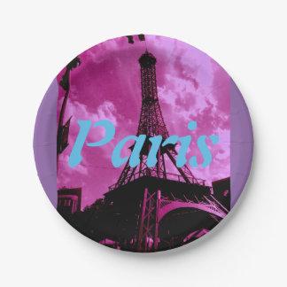 Paris 7 Inch Paper Plate