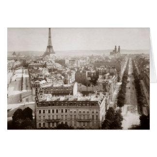 Paris: Aerial View, 1900 Card