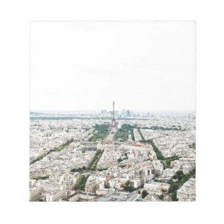 Paris aerial view notepad