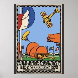 Paris Air Show 1920, Vintage Style Poster