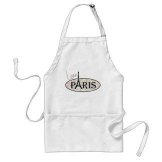 Paris; Almond Color Damask Pattern Aprons