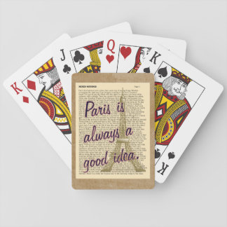 Paris Always Good Idea -- Playing Cards