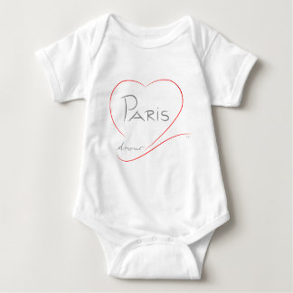 PARIS Amour (heart) Baby Bodysuit