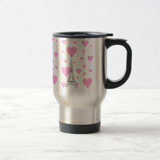 Paris and in Love Travel Mug